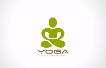 Yoga pose Logo vector design. Beauty, Spa, Relax icon