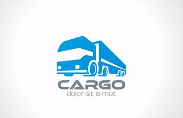 Cargo Truck Logo vector design. Delivery service concept icon