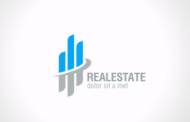 Real Estate Logo vector design template. Realty icon