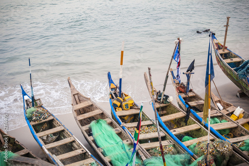 Traditional African Fishing Boats - 62114405