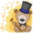 Bear in a hat