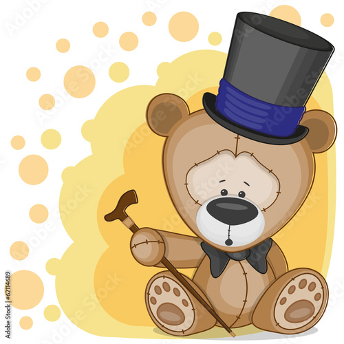 Bear in a hat