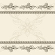 Vintage background with swirly border ornament