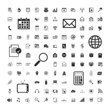 icons set of business calendar documents