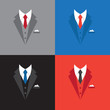 success leader concept, businessman suit illustration