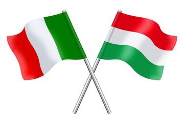 Bandiere: Italia ed Ungheria