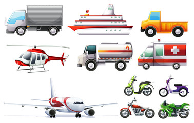 Different transportations