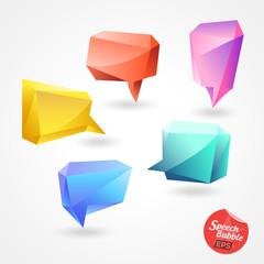 Speech Bubble Vector polygon 3D