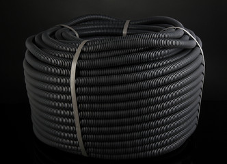 Black cable on black background
