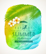 Summer holiday greeting on a watercolor background