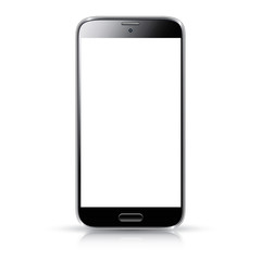 Smartphone realistic vector isolation. Modern mobile phone.