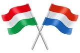 Flags : Hungary and Luxembourg
