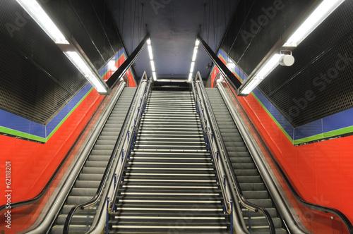 Estación de metro en Madrid, España Poster