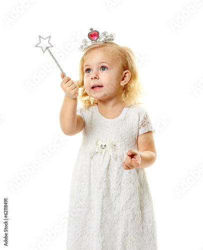 Little fairy with magic wand