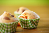 muffins with almonds and dried apricots