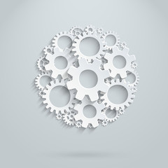 Vector infographic template made of gears.