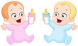Babies with bottles