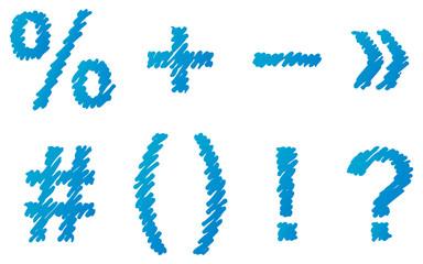 Vector hand-drawn font  shaded marker