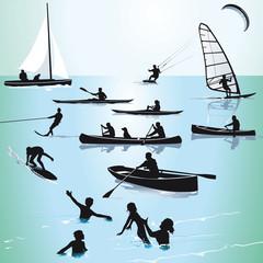 Wassersport und Baden