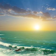 evening emerald sea