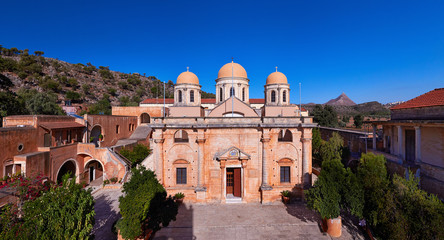 Monastery of Agia Triada of Chania in Crete, Greece.