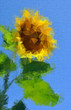 Sunflower decorative. Floral background
