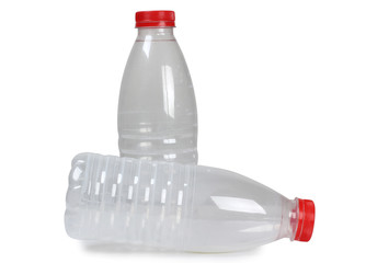 Empty bottle with milk