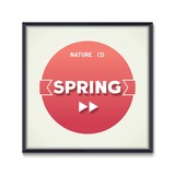 Abstract spring poster - would rather summer. Vector eps10