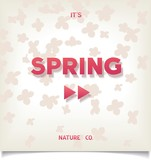 Abstract Posters - Spring has begun. Floral background.