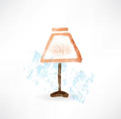 electric lamp grunge icon.