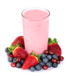 Fresh berries fruit and smoothies