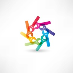 Color circle wrench icon