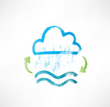 Brush water cycle icon. poster
