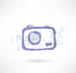 Brush camera icon. Photo.