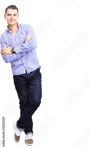 Handsome casual man smiling