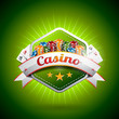 Vector illustration on a casino theme with poker card and chips
