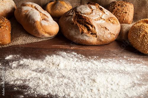 Fotobehang Brood brot und mehl