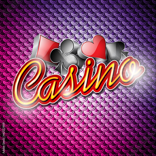 Vector illustration on a casino theme with poker symbols