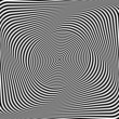 Torsion illusion. Abstract op art background.