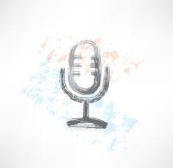 microphone grunge icon