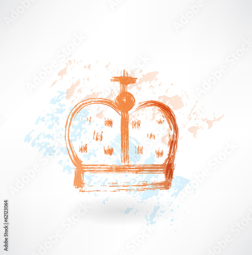 crown grunge icon