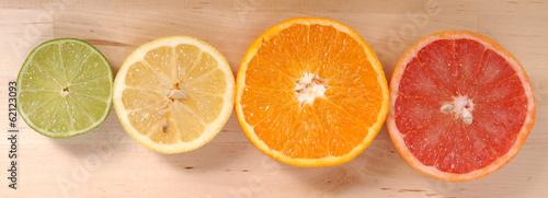 Obraz na Plexi orange, lemon and grapefruit