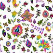 seamless multicolored beautiful flower pattern.
