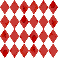 Geometric red and white seamless pattern design