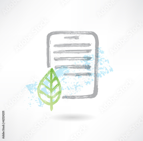Eco doc grunge icon