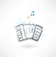 accordion grunge icon