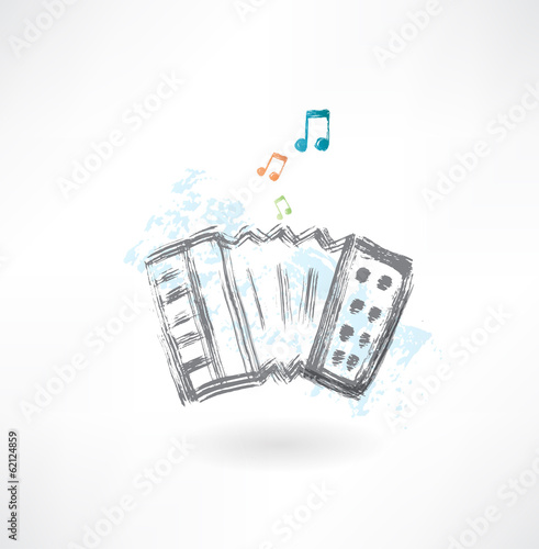 accordion grunge icon