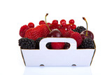 punnet of fresh red summer fruits