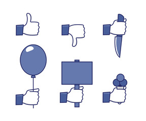 Social network hands set