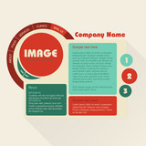 Web Design Template. Flat retro style.